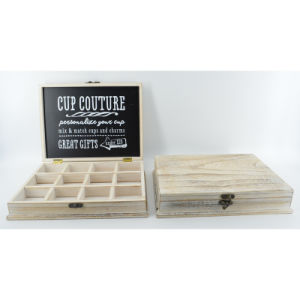 New Wooden Cup Couture Box with Grids pictures & photos