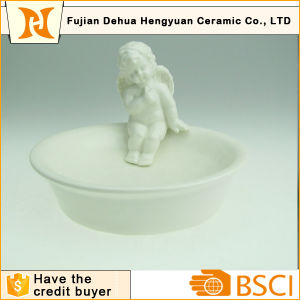 Angel Ceramic Soap Dish Holder for Bathroom Decoration pictures & photos