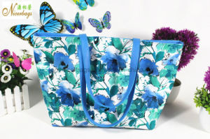Fashion Women Ladies PU Leather Blue Hand Bag pictures & photos
