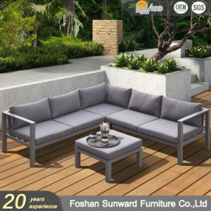 Wholsale Hot Sale Modern Us Style Customized Garden Patio Hotel Home Resort Villa Project Living Room Leisure Aluminum L Shape Outdoor Sofa Furniture Set