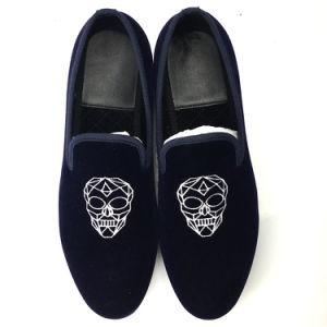 8ff417ef7f5c2 China Men World Cup Shoes Manufacturer Motif Velvet Loafers Smoking ...