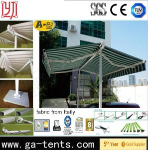 Free Standing Double Side Aluminum Retractable Awning pictures & photos