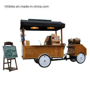 New Four Wheel Coffee Tricycle Electric Tuk Tuk Food Cart for Sale pictures & photos