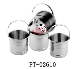 Stainless Steel Beer Cooler Bucket (FT-02610)
