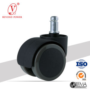 50mm PVC Office Chair Castor Rubber Furniture Caster Swivel Castor Wheel Cabinet Caster pictures & photos