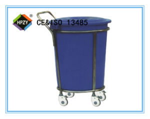 (B-46) Stainless Steel Contaminent Trolley with Plastic Bucket