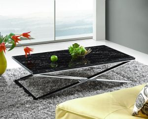 Modern Coffee Table Stainless Steel Feet (CT003L)