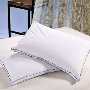 Luxury Double Firm with Piping Pillow 5 Star Hotel Down Pillow pictures & photos