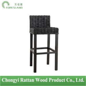 Natural Rattan Simple Rattan Bar Stool Counter Chair