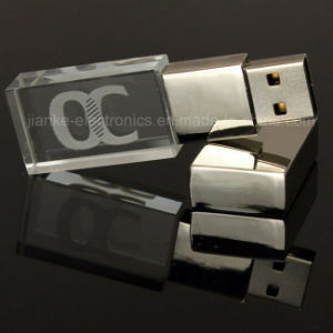 High Speed 3D Logo Crystal USB Flash Drive with LED Light (759)