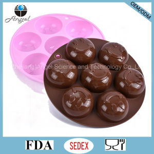 Round Smile Face Eco-Friendly Silicone Soap Mould Si22