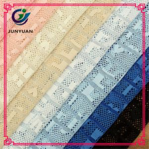 85 Cotton / 15 Nylon Knitted Jacquard African Cord Lace Fabrics Textile China pictures & photos