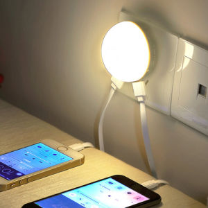 High Brightness Warm White Us EU UK Plug LED Night Light with Light Sensor Dual USB Charger for Bedroom Home