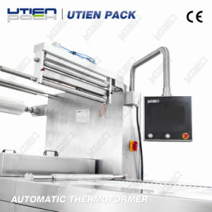 Automatic Food Vacuum Map Thermoforming Packing Machine (DZL) pictures & photos