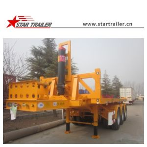 3 Axle Flatbed Container Tipper Semi Trailer pictures & photos