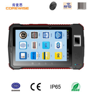 Wireless Fingerprint Reader with Barcode Scanner, Rugged PDA