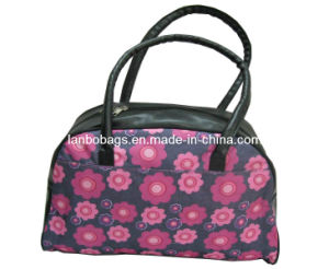 Flower Print PU Fashion Woman Handbag