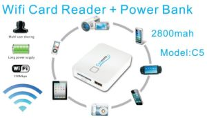 2013 Newly Developed WiFi Card Reader for Phone, Tablet and Camera (C5)