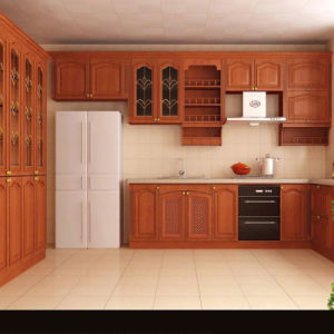 Wood Surface with Melamine Board Home Furniture Kitchen Cabinet