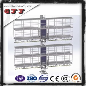 GJJ SCP Type Suspended Safety Work Platform for Building Construction Two Levels Single Column Double Floors