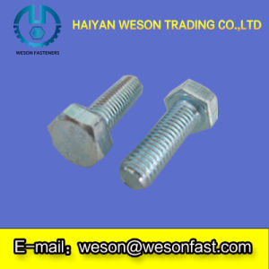 Hex Head Bolts DIN933 with Zinc Plated Carbon Steel pictures & photos