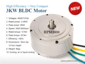 Compact Design and Water Resistent Liquid Cooling Brushless DC Motor pictures & photos