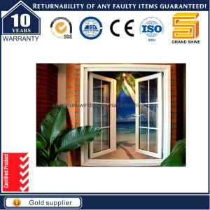 Economy Powder Coating Grey Aluminum Casement Window
