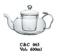 Lead Free Colored Borosilicate Glass Teapots, Borosilicate Glass Teapot 600ml Direct Fire Pot