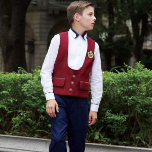 Fashionable Red Color Sleeveless School Uniform Waistcoats pictures & photos