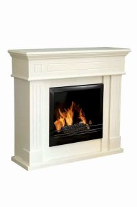 MDF White Fireplace With Ethanol Burner (FP-006M)