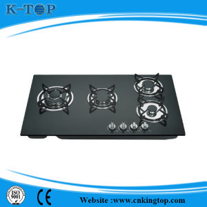 Noble Black Glass Built-in 4 Burner Gas Hob, Gas Burner