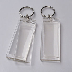 OEM Simple Clear Acrylic Photo Keychain pictures & photos