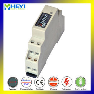 Single Phase DIN Rail Energy Meter for Distribution Box pictures & photos