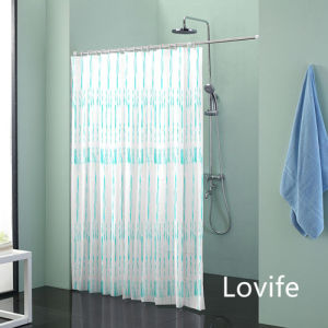 Shower Curtain Bathroom Waterproof Curtain (JG-242) pictures & photos