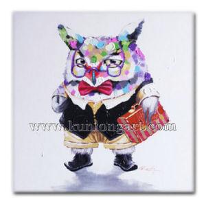 Modern Cartoon Oil Painting Of Professor Owl KLCP 0020