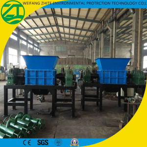 Twin Shaft Crusher Shredder for Wood/Tire/Foam/Plastic/Municipal Waste/Medical Waste/Kitchen Waste/Scrap Metal pictures & photos