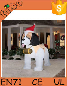 2015 popular husky dog christmas inflatable christmas decoration for sale