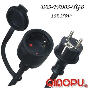 European IP44 Waterproof Extension Power Cord (D03-F/D03-YGB)
