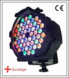 Double Bracket 54 X 3W IP65 LED PAR Light 3200k Rainbow Effect RGB Stage Lighting