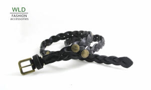 Fashion Basic Braided Genuine Top Leather Lady Belt Lky1188 pictures & photos