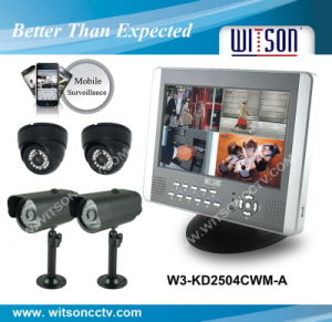 Witson CCTV System Kit /CCTV DIY Kit Support 3G Surveillance (W3-KD2504CWM) pictures & photos