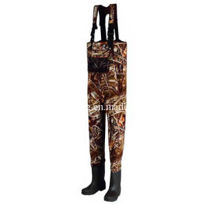 Camouflage Waterproof High Chest Fishing Wader (HX-FW0019) pictures & photos
