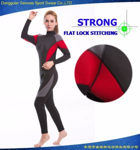 Factory Outlet Custom Practical Neoprene Woman′s Elastic Surfing Suit