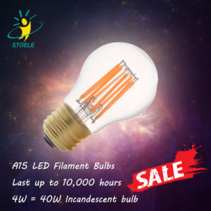 UL Approved LED Filament Bulb A15 6W Clear Glass Light