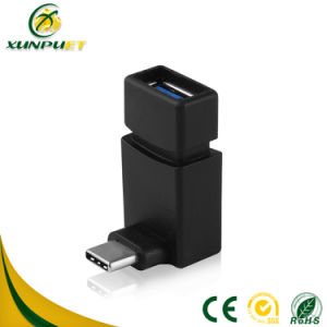 Customized Portable 2.4A 90 Degree USB to Type-C Connector