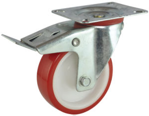 Industrial Red PU Caster with PP Core (MC-A-100-QER)