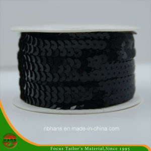 High Quality 5mm Long Chain Black Sequin (HASL50002) pictures & photos