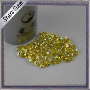 Glamour Yellow Oval Shape Brilliant Cubic Zirconia pictures & photos