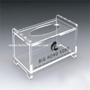 Custom Acrylic Tissue Paper Box with Printing pictures & photos