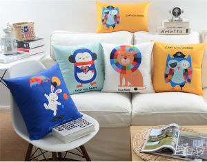 New-Style Animal Cushion 100%Polyester Transfer Print Cushion Pillow pictures & photos